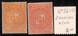 [814377] */Mh-Dominicaine (République)  - N° 26+35,  Armoiries, Nuance - Dominicaine (République)