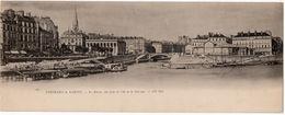 Nantes : Carte Panoramique Double Format : La Bourse, Vue Prise De L'île De La Gloriette (ND Phot. N°1285) - Nantes