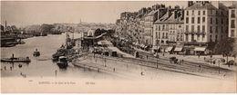 Nantes : Carte Panoramique Double Format : Le Quai De La Fosse (ND Phot. N°1569) - Nantes