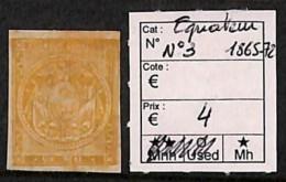 [814650] */Mh-Equateur 1865-72 - N° 3 - Equateur