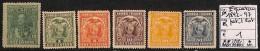 [814658] */Mh-Equateur 1892-1897 - Petit Lot - Equateur