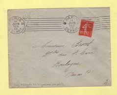 Krag - Paris Depart - 7 Lignes Droites + Bloc Dateur 2 Gros Point - 1908 - Annullamenti Meccanici (pubblicitari)