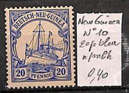 [814749] */Mh-Nouvelle Guinée 1896 - N° 10, 20p Bleu, Bateau - Bateaux