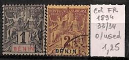 [814786] O/Used-France (colonies) 1894 - N° 33/34 - Benin (1892-1894)