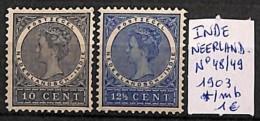 [814845] */Mh-Inde 1903 - N° 48/49,  Célébrité, Personnages, Portraits - Inde