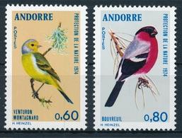 Andorra 261-262 Einwandfrei Postfisch/** Zitronengirlitz, Dompfaff - Songbirds & Tree Dwellers