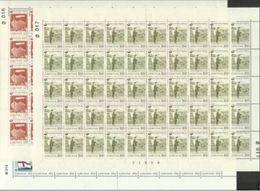 1976 Faroer AUTONOMIA POSTALE 50 Serie Di 3v. In Foglio MNH** Sheet - Posta
