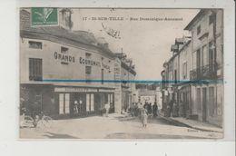 CPA  - IS SUR TILLE - Rue Dominique Ancemot - Grands Economats Francais - Is Sur Tille