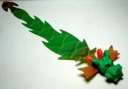 K336 / Kinder Série Jeux De Lancer / Dragon Vert / Ref: FF081 - Montables