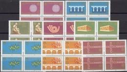YU CEPT Serbija 3257/4 Im 4-Block ** 32€ S/s Stamps On Stamp Blocs Hojitas M/s Sheets Bf 50 Years EUROPA 1956-2006 - Serbien