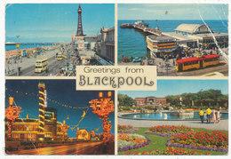 Greetings From Blackpool, 1977 Multiview Postcard - Blackpool