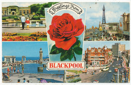 Greetings From Blackpool, 1976 Multiview Postcard - Blackpool