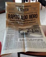 L'UNITA' DI VENERDI' 28/07/2000 CON LA RIPRODUZIONE DELLA PRIMA PAGINA DEL RAPIMENTO DI ALDO MORO E DEI FUNERALI DI ENRI - Libri, Riviste, Fumetti