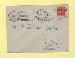 Krag - Paris 36 - 6 Lignes Droites Groupees Par 2  - 1932 - Marcophilie (Lettres)
