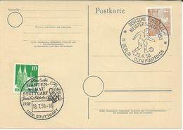Germany Postcard 1950 - Postmark Motive - Football - [7] République Fédérale
