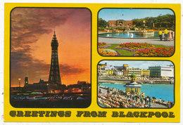 Greetings From Blackpool, 1982 Multiview Postcard - Blackpool