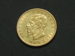 20 Lire OR 1863  -Gold - Victor Emmanuel II  **** EN ACHAT IMMEDIAT **** - 1861-1878 : Víctor Emmanuel II