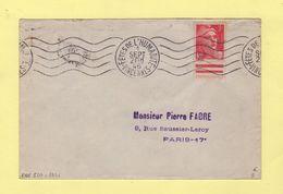 RBV - Fetes De L Humanite - Vincennes - 1946 - Marianne De Gandon - Marcophilie (Lettres)