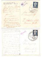 DDR - 2x Karte Mit Werbe Stempel : Radeberg - Weltbekanntes Exportbier - Bier - Beer - 1951 - 1953 12 Pf Wilhelm Pieck - [6] Democratic Republic