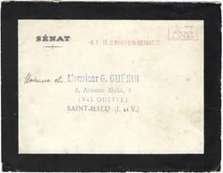Lettre De Deuil, Sénat  Paris 6: 5.1. 1941 Vers Saint-Malo (2scans) - Poststempel (Briefe)