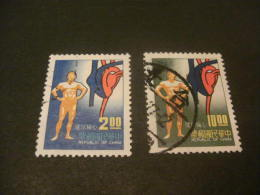 K8161- Set Used Rep. OF China- 1977- SC. 2077-2078- Physicael Health ,cardiac Care - 1949 - ... République Populaire