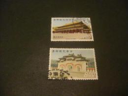 K8352- Set Used China- 1970- SC. 1653-1654- Martyr's Shrine - 1949 - ... République Populaire