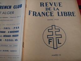 FRANCE LIBRE /FEZZAN BAYROU/PENICHE CROIX LORRAINE /RICARDOU COMPAGNON LIBERATION/JEAN COLONNA D ORNANO - Livres, BD, Revues
