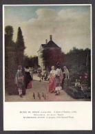 PD138/ Pieter DE HOOCH, *Joueurs De Quilles Dans Un Jardin*, Saint-Louis, Musée D'art - Paintings