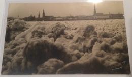 RIGA IN THE WINTER 1927 Real Photo Picture Postcard (PPC) Used (Foto Ak Cp Latvija Latvia Lettland - Latvia
