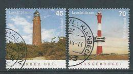 Duitsland, Mi Jaar 2018 Leuchturm - Phares - Vuurtorens, Reeks,  Gestempeld, Zie Scan - [7] Federal Republic