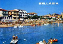 Bellaria - Alberghi E Spiaggia Visti Dal Mare - Formato Grande Viaggiata – E 7 - Rimini
