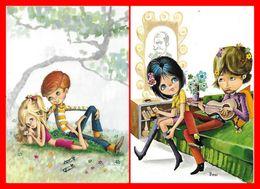 2 CPSM/gf Illustrateur BENI  Et  M. ??.  Les Premiers Flirts...H189 - Illustratori & Fotografie