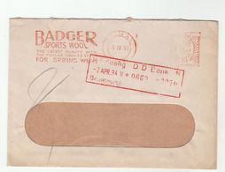 1934 Halifax GB Meter  BADGER SPORTS WOOL The Latest Quality Popular Speckled Effect Spring Wear SLOGAN  Cover - Covers & Documents