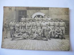 GROUPE De MILITAIRES : Carte Photo Dos Divisé - Inscription 168 - Regiments