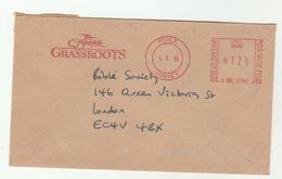 1983 POOLE The FISHERFOLK GRASSROOTS To London Bible Society  METER SLOGAN COVER Religion Christianity Gb - Christianity