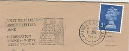 1973 Cover HOLM CULTRAM ABBEY FESTIVAL Illus CHURCH Slogan Pmk Carlisle GB Stamps Religion Christianity - Churches & Cathedrals
