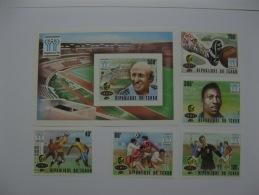 Chad 1978  World Cup Football   SC#359-363,364 Imperf - Fußball-Weltmeisterschaft