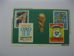 Bolivia  1979  World Cup Football 1978 And 1982   MS  MICHEL No. BL83 - 1978 – Argentine
