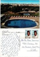 MAS18002 Morocco Maroc Hotel Transatantique Postcard Franking King Hassan II Addressed USA - Morocco (1956-...)