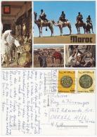 MAS18005 Morocco Maroc 1987 Marrakech Postcard Nice Franking With Slogan Addressed USA - Morocco (1956-...)