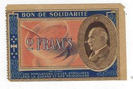 France Bon De Solidarité 2 Francs - Bonds & Basic Needs