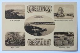 Greetings From Bermuda, Dockyard, Hamilton And Red Hole, Pyramid Rock Ireland Island, Corals - Bermuda