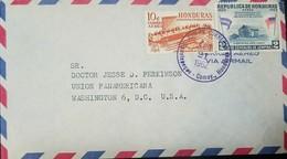 O) 1962 HONDURAS, INTERNATIONAL COURT OF JUSTICE  LA HAYA, LINCOLN'S BIRTHPLACE, AIRMAIL TO USA - Honduras