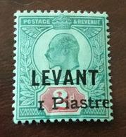 British Levant , Scarce 1 Pi./2d , MLH * - British Levant