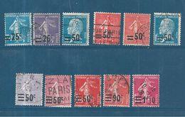 France Timbre De 1926/27 N° 217 A 228  Série Complète Oblitérée - France