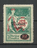 LATVIA Lettland 1921 Michel 69 MNH - Lettland