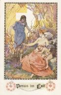 AK - NÖ - Bund D. Deutschen In NÖ - Kunstkarte Marussig - Venus Im Exil- Vignette Oberhollabrunn - Hollabrunn