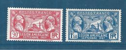France Timbres De 1927 N°244/45 Neufs * - France