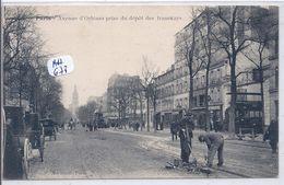 PARIS- LES PAVEURS EN ACTION SUR L AVENUE D ORLEANS PRES DU DEPOT DES TRAMWAYS- MARMUSE - Artigianato Di Parigi