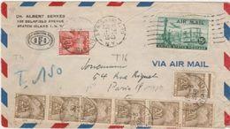 Lettre Taxée En Provenance Des USA - Poststempel (Briefe)